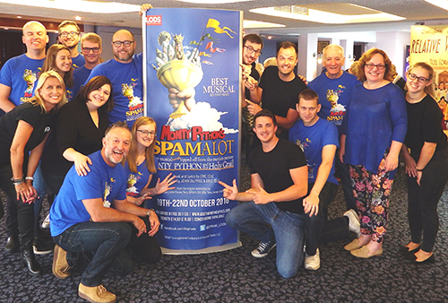 October 2016: Leigh Operatic & Dramatic Society Spamalot