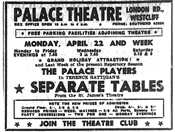 May 1957: An exhortation to 'Join the Theatre Club'!