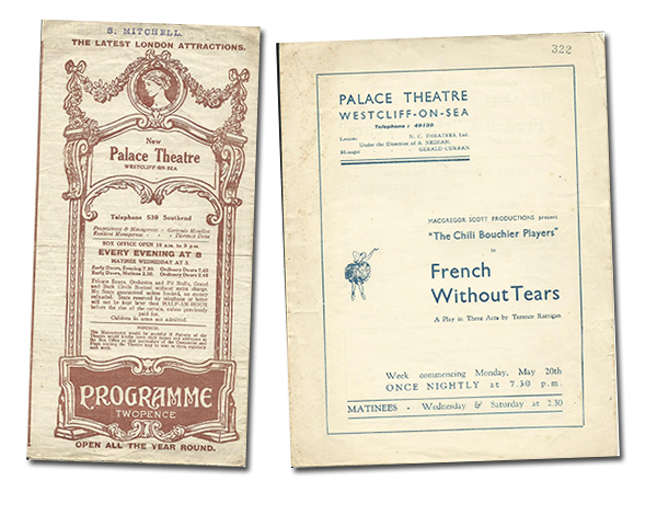 Programmes dated 1924 (left) and 1935 (right)