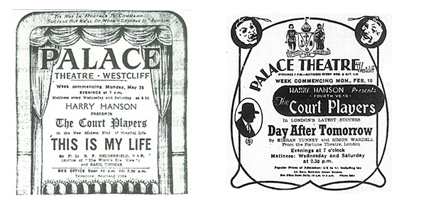 Court Players newspaper adverts from March 1945 and February 1947