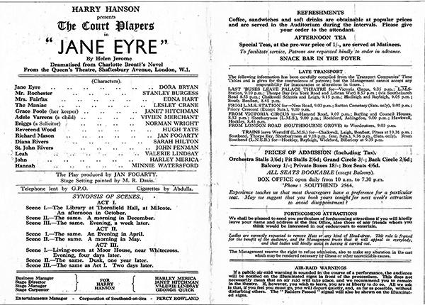 Jane Eyre programme