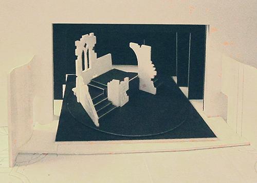 September 2012 Little Theatre Company Dracula (model of revolving set)