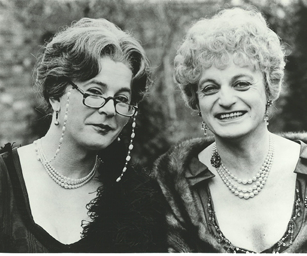 'Those Dear Ladies': Dr. Evadne Hinge (George Logan) and Dame Hilda Bracket (Patrick Fyffe)