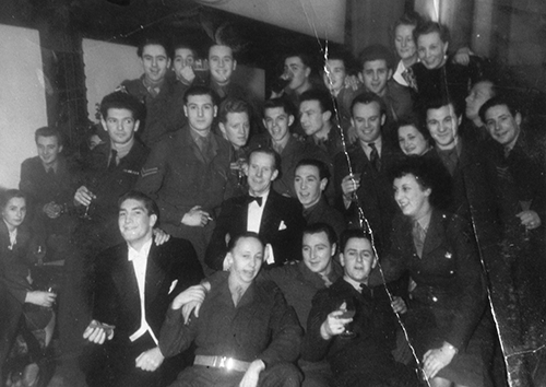 My father's army acting days.  He is top row, far left, while Bryan Forbes is middle row second right