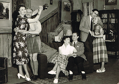 With the rest of the cast of Widows are Dangerous, also in June 1953. Left to right: Edna Hart, Walter Wingham, Yootha Joyce, Harry Bowers, Peter Lee and Dorrie Tomlinson.