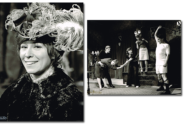 Anne in Candida and (in the centre) in a typically farcical situation in See How They Run