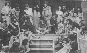 Southend College Drama Dept; A Midsummer's Nights Dream, Directed by Hillary Clulow, Lighting design Peter Monk. I also played Demetrious :- Back Row forth from the right