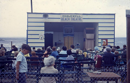 Chalkwell Beach Theatre Photo©kindly supplied by Rob McCaffery taken by his father Cyril early 1960s