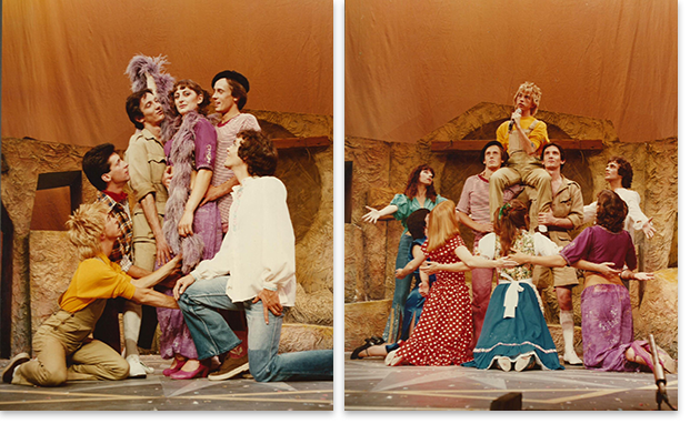 A yellow-shirted Limahl in Godspell